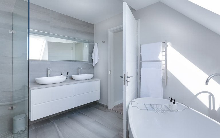 New Skylight Lit Bathroom in Hobart