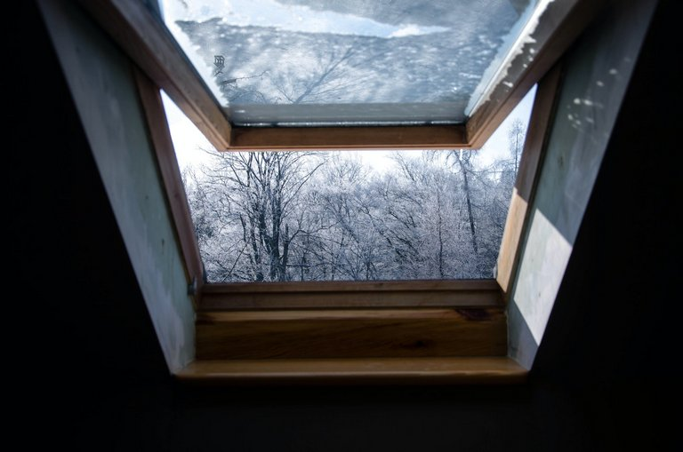 Skylight Open in Winter Hobart